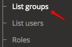 List groups