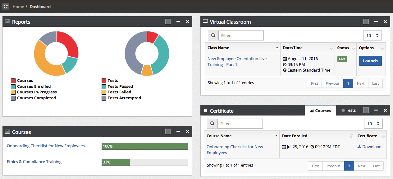 Introducing New Student Dashboard for Enterprise LMS