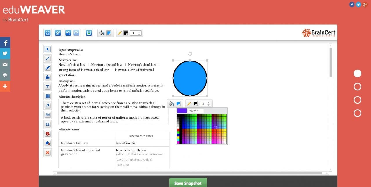 BrainCert launches FREE Online Whiteboard tool eduWEAVER
